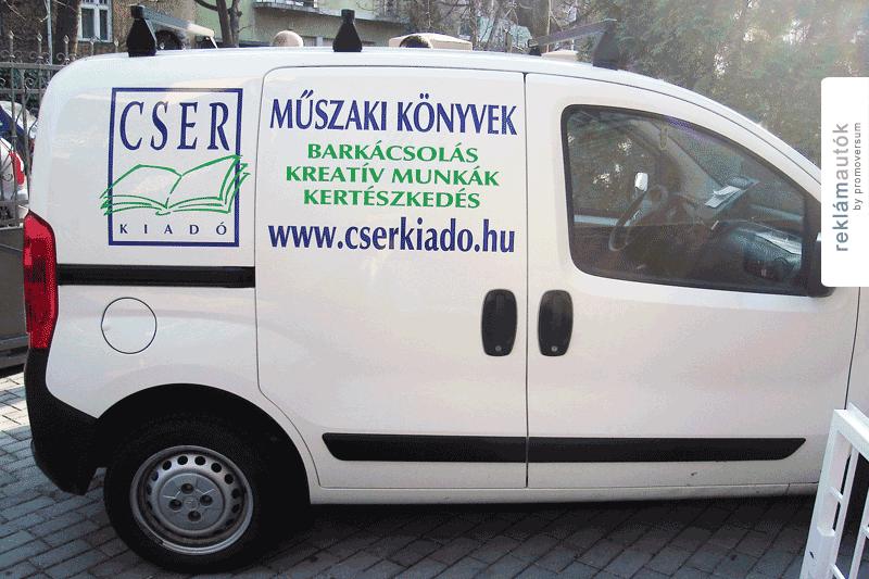 Autófóliázás a Cser Kiadónál
