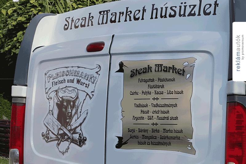 Autófóliázás Steak Market